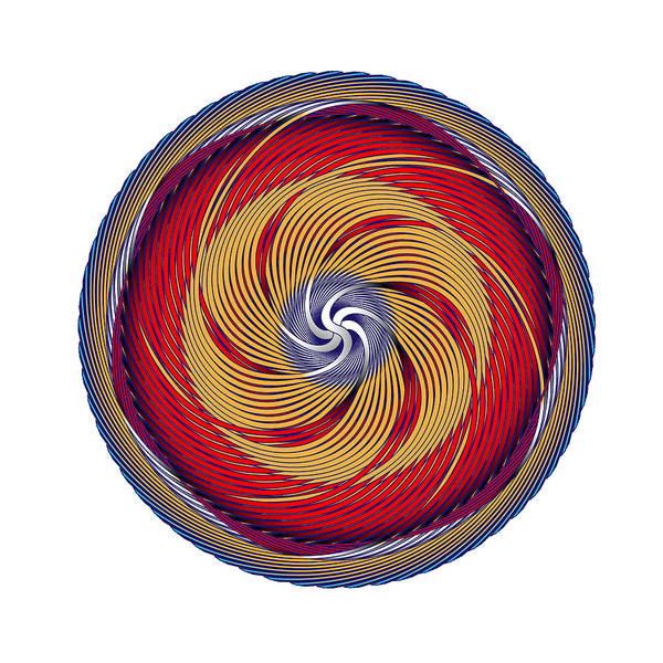 Digital Art - Circle Study No. 381 by Alan Bennington