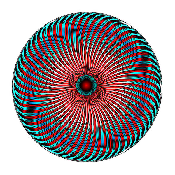 Digital Art - Circle Study No. 419 by Alan Bennington