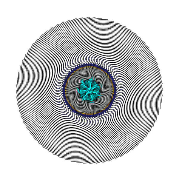 Digital Art - Circle Study. No 437 by Alan Bennington