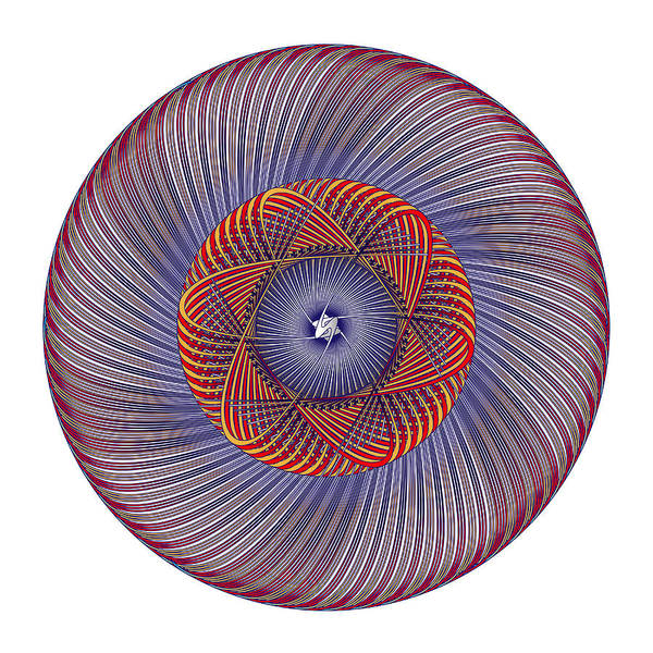 Digital Art - Circle Study No.378 by Alan Bennington