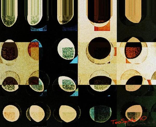 Digital Art - Circle Study Number 10 by Teodoro De La Santa
