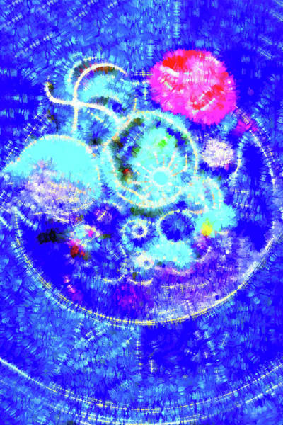 Photograph - Circles And Balls In Blue by Kay Brewer