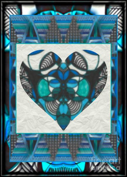 Mixed Media - Circles And Diamonds Heart by Wbk
