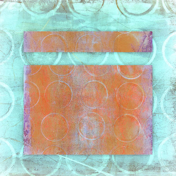Striking Wall Art - Mixed Media - Circles And Rectangles Abstract  by Carol Leigh