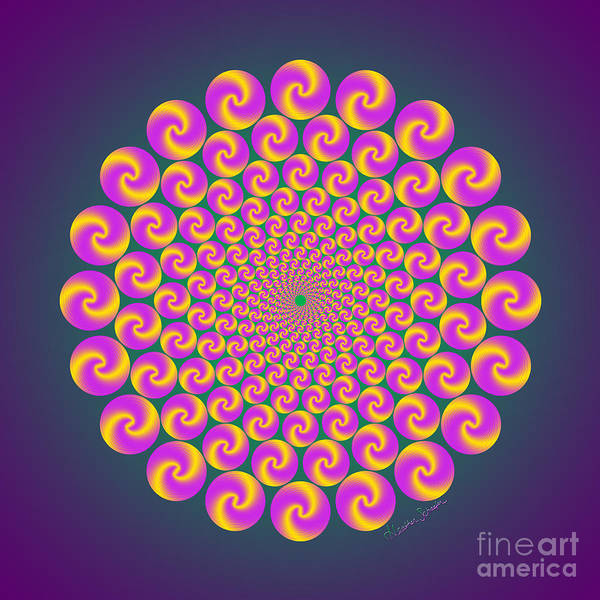 Digital Art - Circles Circus by Heather Schaefer