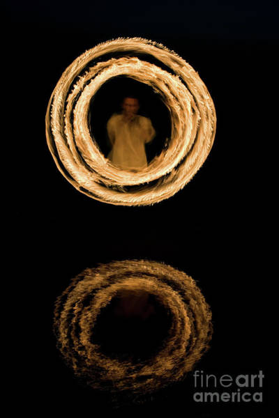 Fire Dance Wall Art - Photograph - Circles Of Fire by Tim Gainey