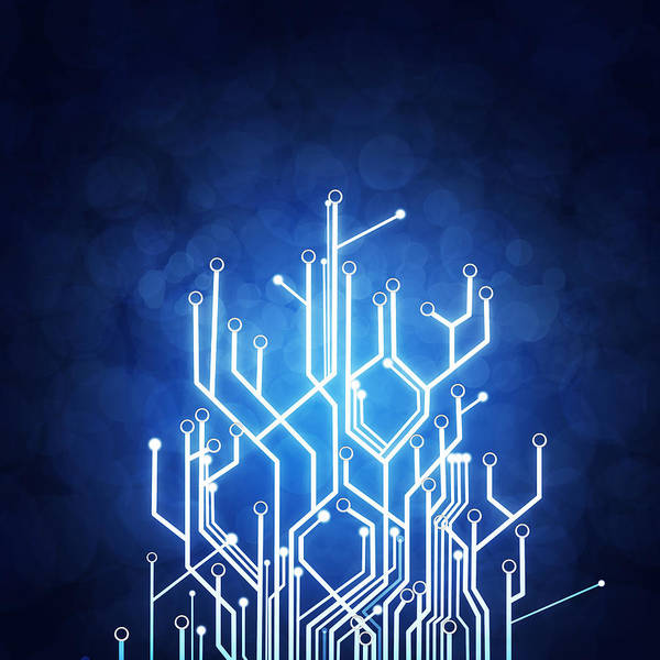 Digital Photograph - Circuit Board Technology by Setsiri Silapasuwanchai