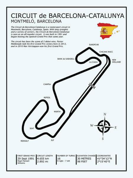 Ayrton Senna Wall Art - Photograph - Circuit De Barcelona Catalunya by Mark Rogan