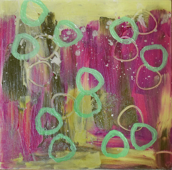 Wall Art - Painting - Circular Commotion by Paulette B Wright