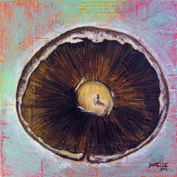 Painting - Circular Food - Mushroom by Janelle Schneider