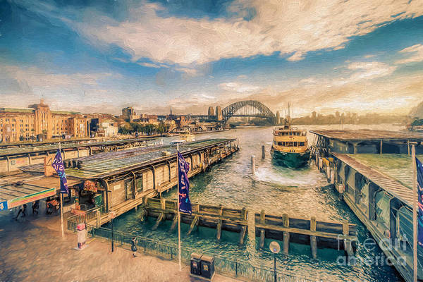 Photograph - Circular Quay, Sydney     Oj by Ray Warren
