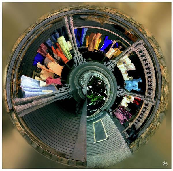 Photograph - Circular Washline Squared by Wayne King