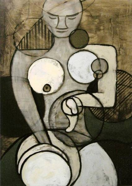 Nude Figurative Wall Art - Painting - Circularity 2 by Joanne Claxton