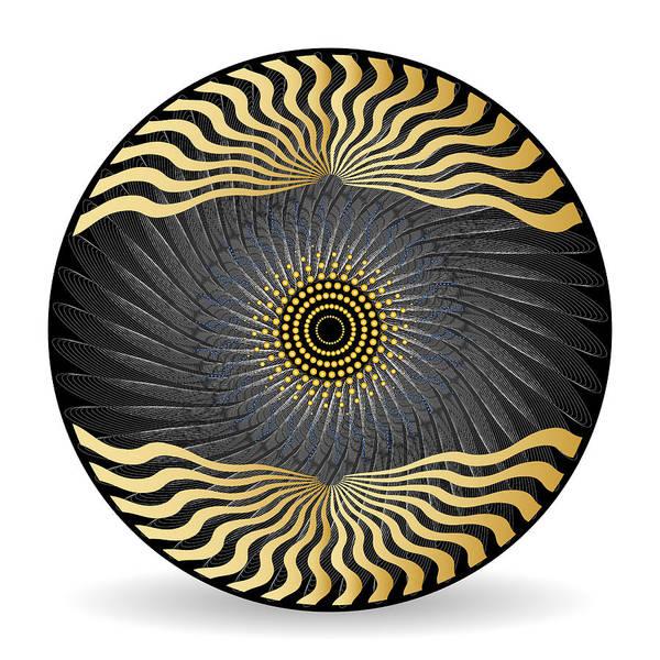 Digital Art - Circularity No 1622 by Alan Bennington