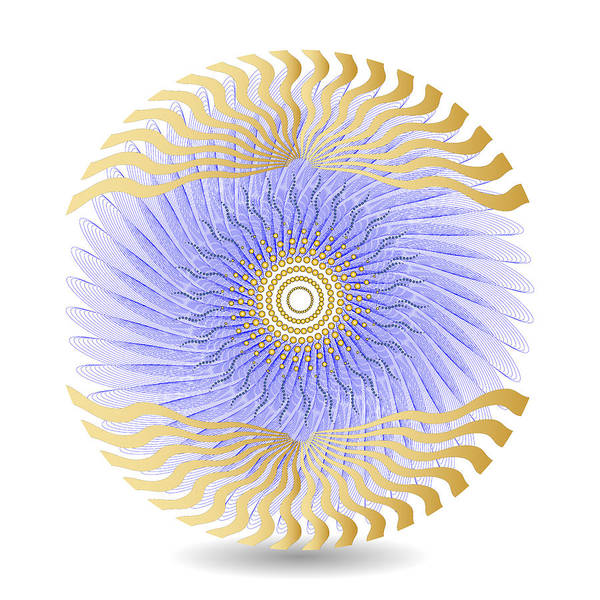 Digital Art - Circularity No 1627 by Alan Bennington