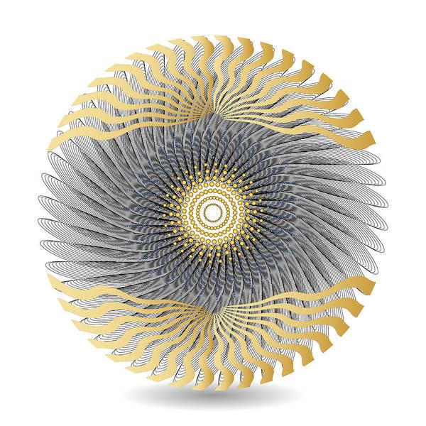 Digital Art - Circularity No 1628 by Alan Bennington