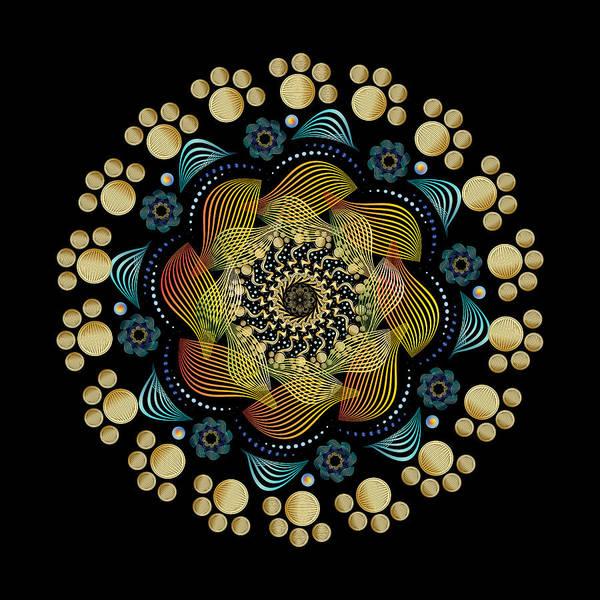 Digital Art - Circularity No 1631 by Alan Bennington
