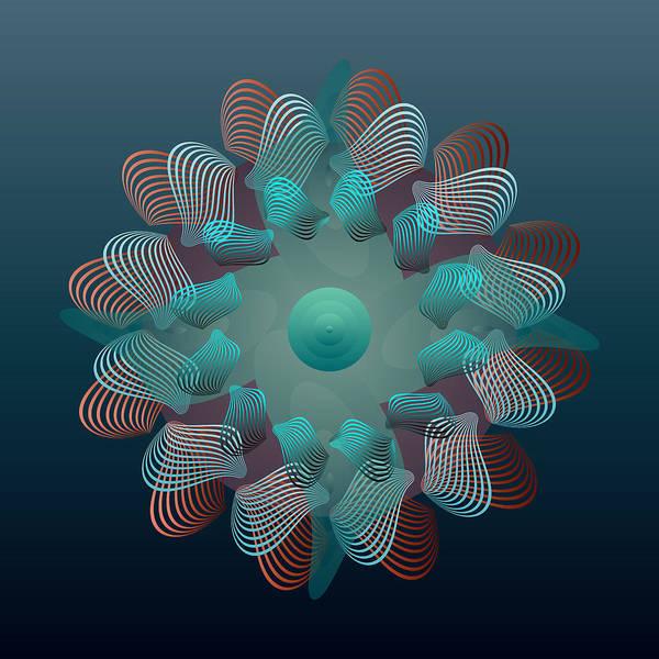 Digital Art - Circularity No 1633 by Alan Bennington