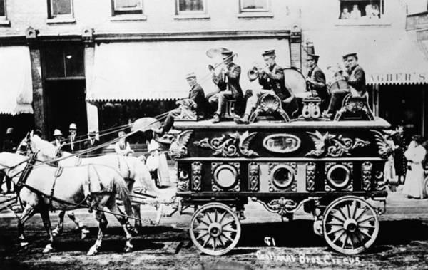 Carnies Photograph - Circus Bandwagon, 1900 by Granger