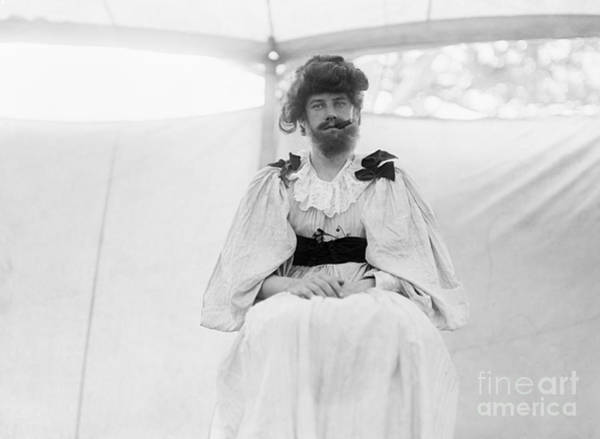 Photograph - Circus, Bearded Lady.  by Granger