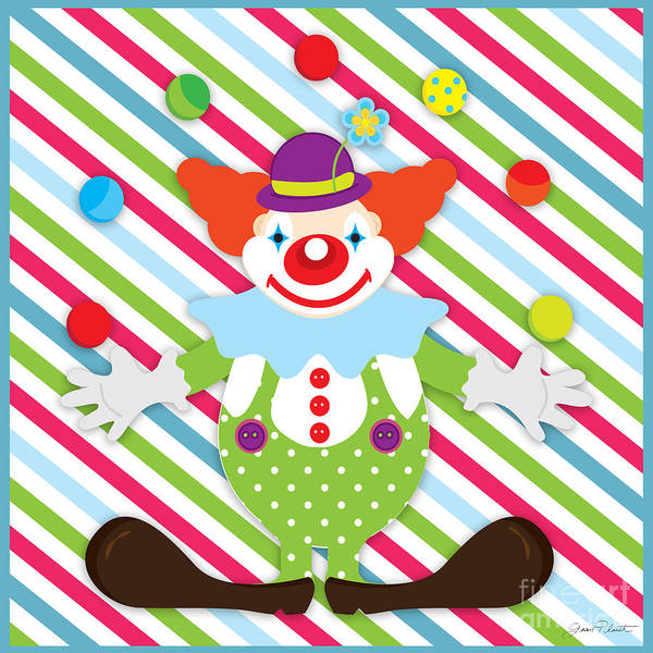 Circus Clown Painting - Circus Clown-jp2993 by Jean Plout