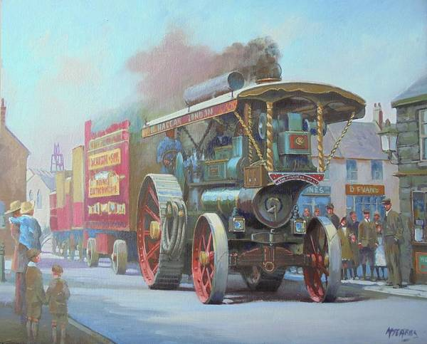 Circus Painting - Circus Comes To Town. by Mike Jeffries