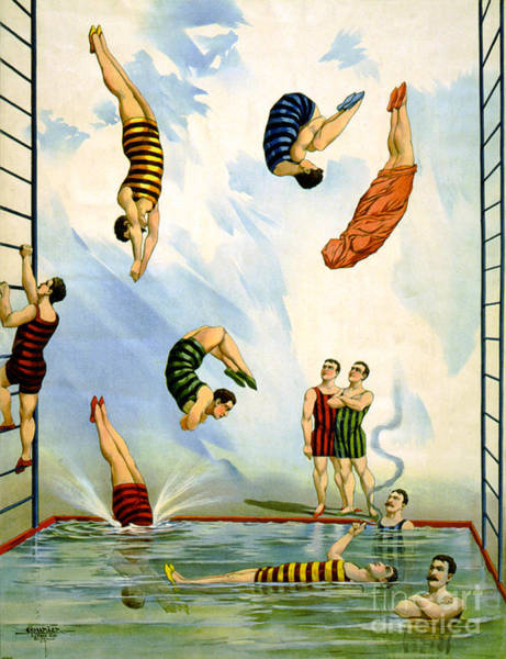 Photograph - Circus Diving Act, 1898 by Science Source
