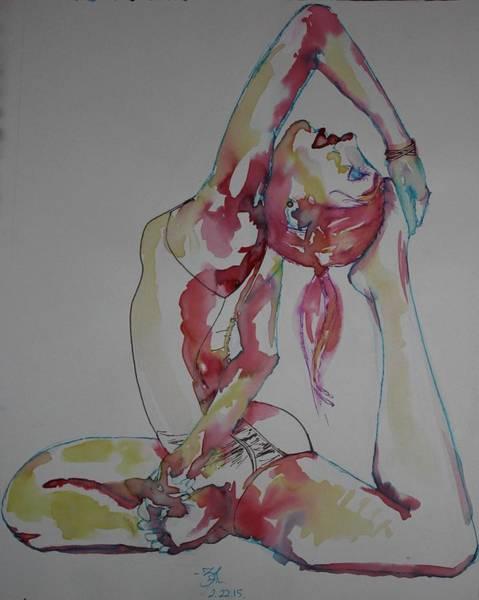 Entangled Painting - Circus Girl by Zainab Ali Tapal