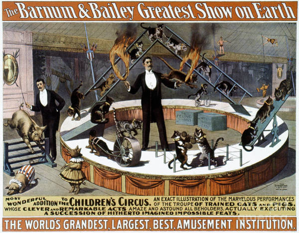 Photograph - Circus Poster, 1890s by Granger