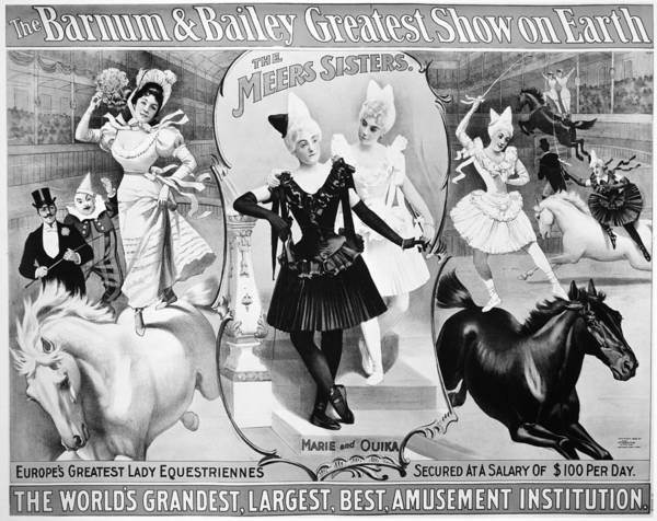 Carnies Photograph - Circus Poster, 1895 by Granger