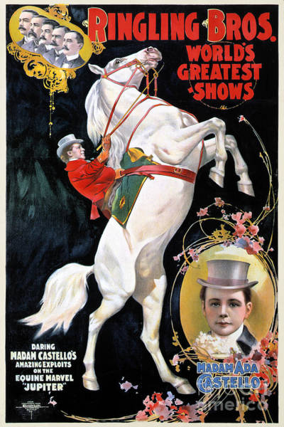 Photograph - Circus Poster, 1899 by Granger