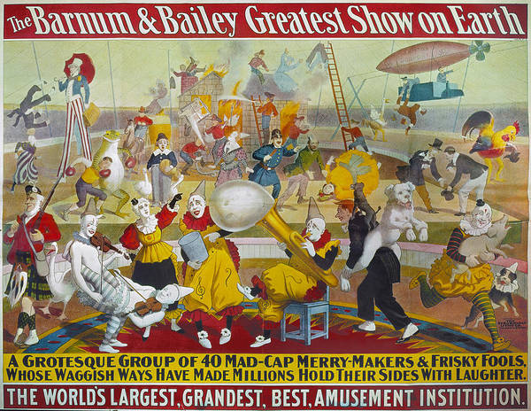 Carnies Photograph - Circus Poster, 1903 by Granger