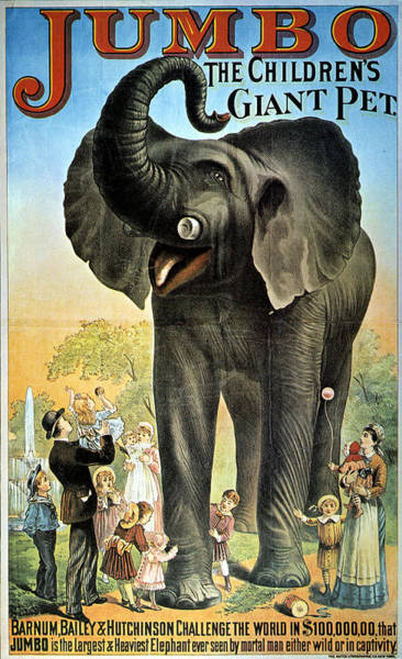 Photograph - Circus Poster, C1882 by Granger