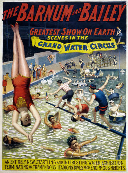 Drawing - Circus Poster, C1895.  by Granger