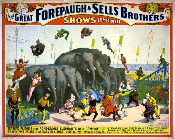 Photograph - Circus Poster, C1899 by Granger