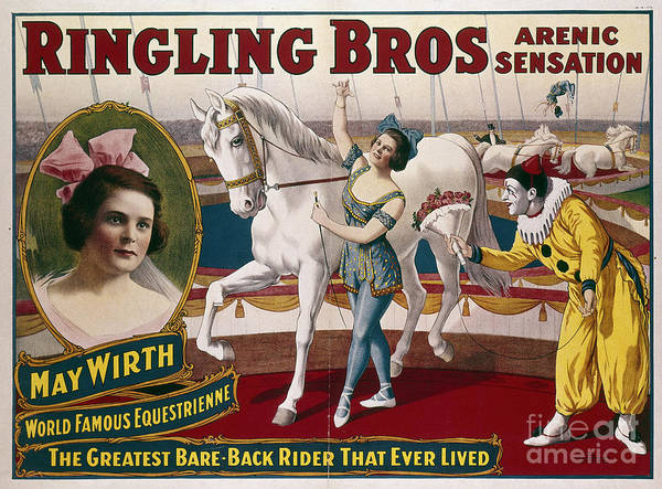 Photograph - Circus Poster, C1918 by Granger