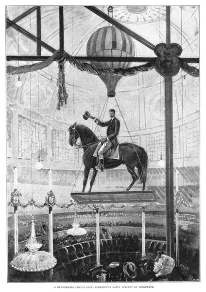 Carnies Photograph - Circus: Rider, 1898 by Granger