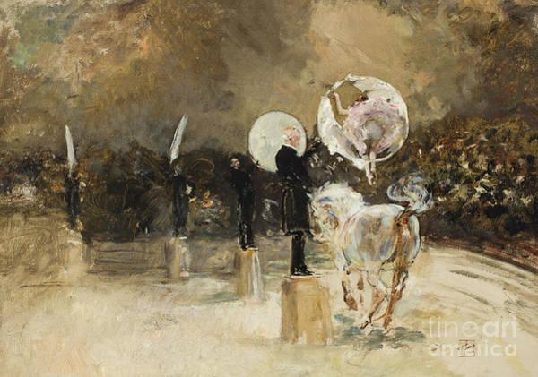 Platform Painting - Circus Ring At Night  by Robert Frederick Blum