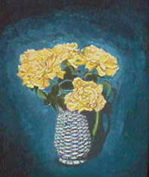 Painting - Circus Roses In Vase. by Eugene Foltuz