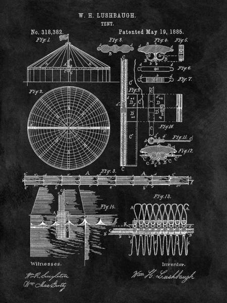 Wall Art - Drawing - Circus Tent Patent by Dan Sproul