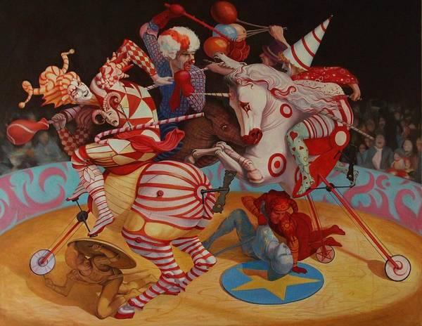 Arena Painting - Cirque Du Soleil by Adrian Borda