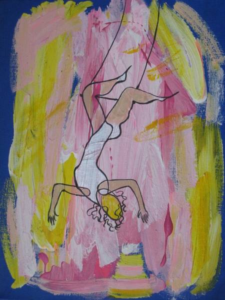 Trapeze Painting - Cirque - Trapeze by Sue Wright