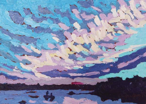 Wall Art - Painting - Cirrious July Sunset by Phil Chadwick