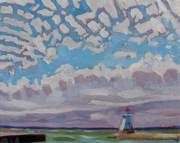 Wind River Range Wall Art - Painting - Cirrocumulus Study by Phil Chadwick