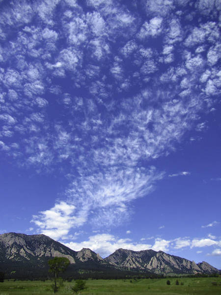 Photograph - Cirrus Clouds Over Flatirons 2 by Marilyn Hunt