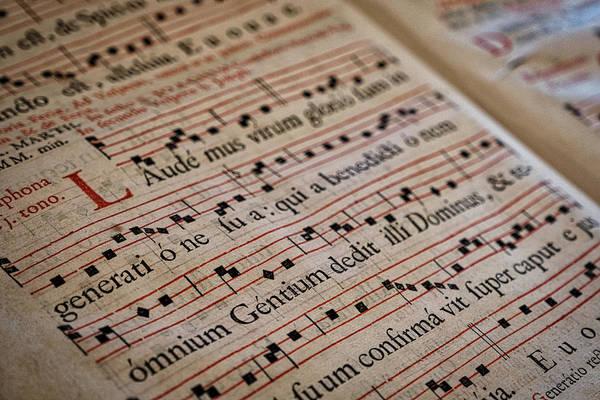Photograph - Cistercian Monastery Library Music Book - Czechia by Stuart Litoff