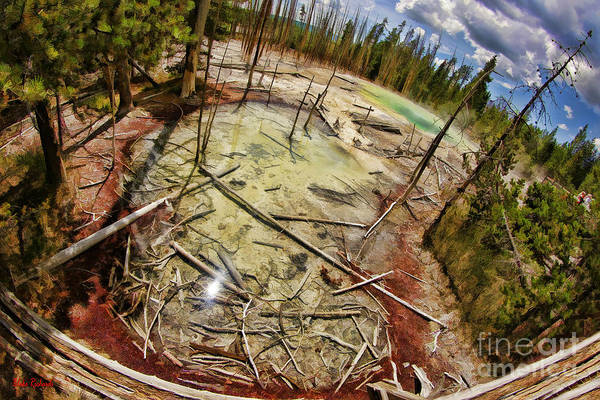 Photograph - Cistern Spring In Yellowstone by Blake Richards