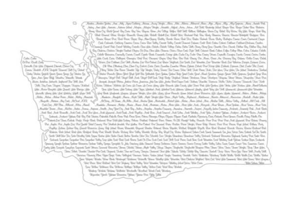 Spokane Digital Art - Cities And Towns In Washington Black by Custom Home Fashions