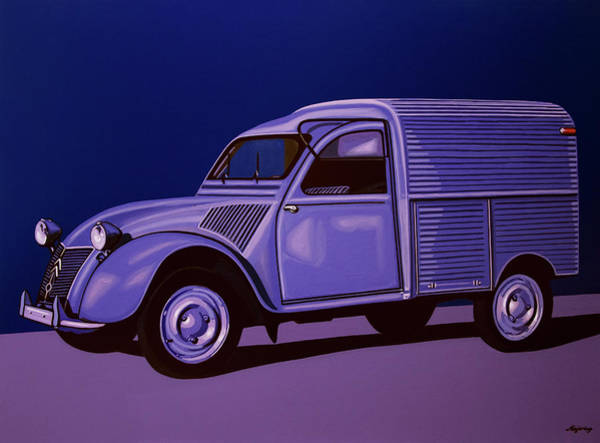 Oldtimer Wall Art - Painting - Citroen 2cv Azu 1957 Painting by Paul Meijering