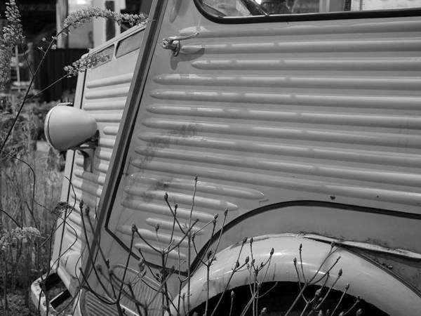 Photograph - Citroen H Van In Mono Study 1 by Richard Reeve